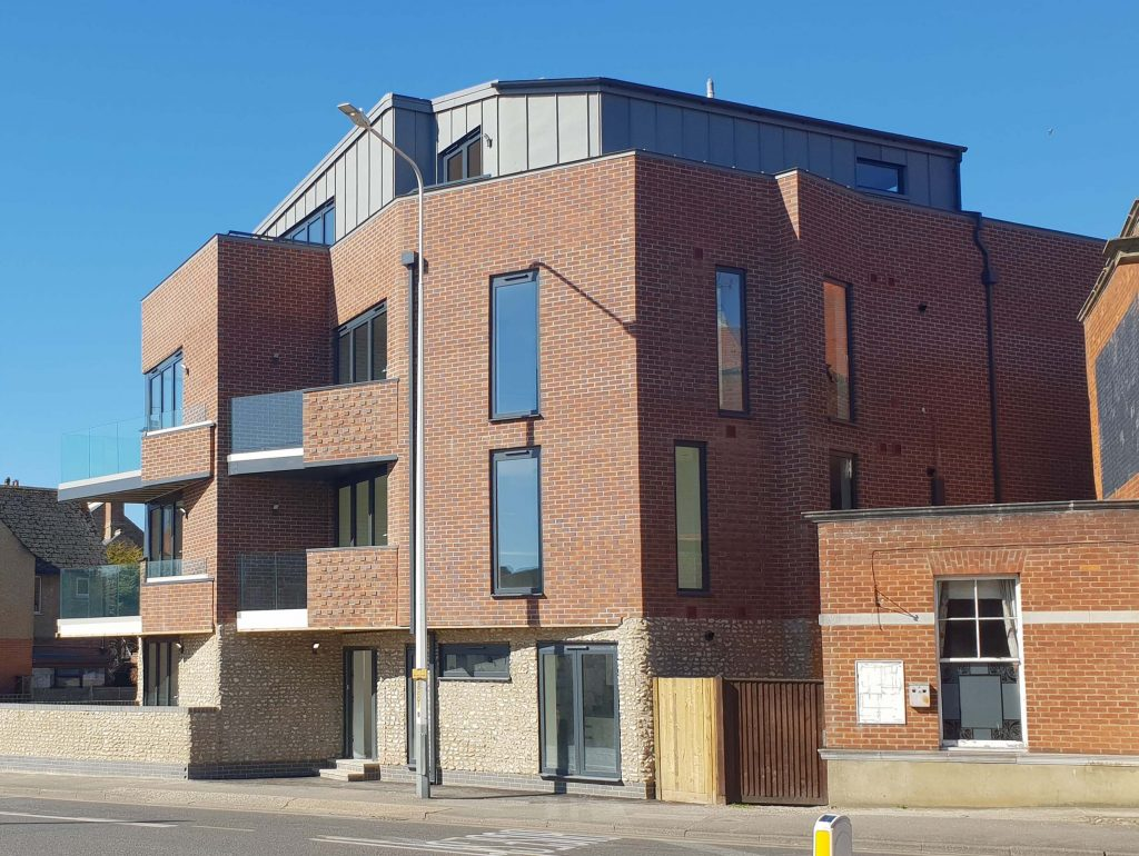 ONE62 exterior, a residential development comprising six spacious apartments in Hythe.