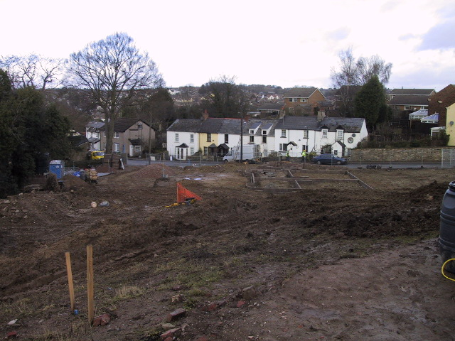 Construction of detached and semi-detached houses on Greenfield site in Coleford, Gloucestershire