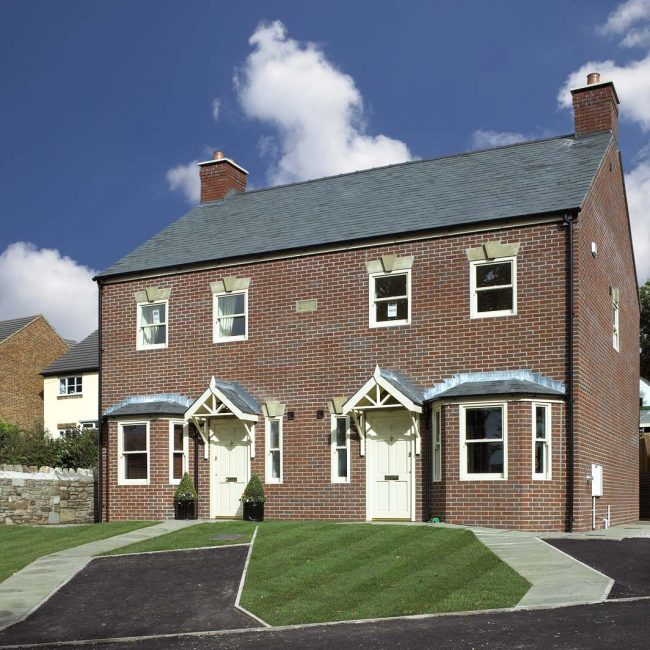 Detached and semi-detached houses on Greenfield site in Coleford, Gloucestershire