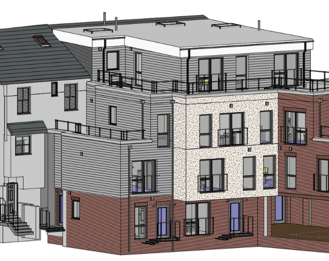 New flats on market street Cinderford