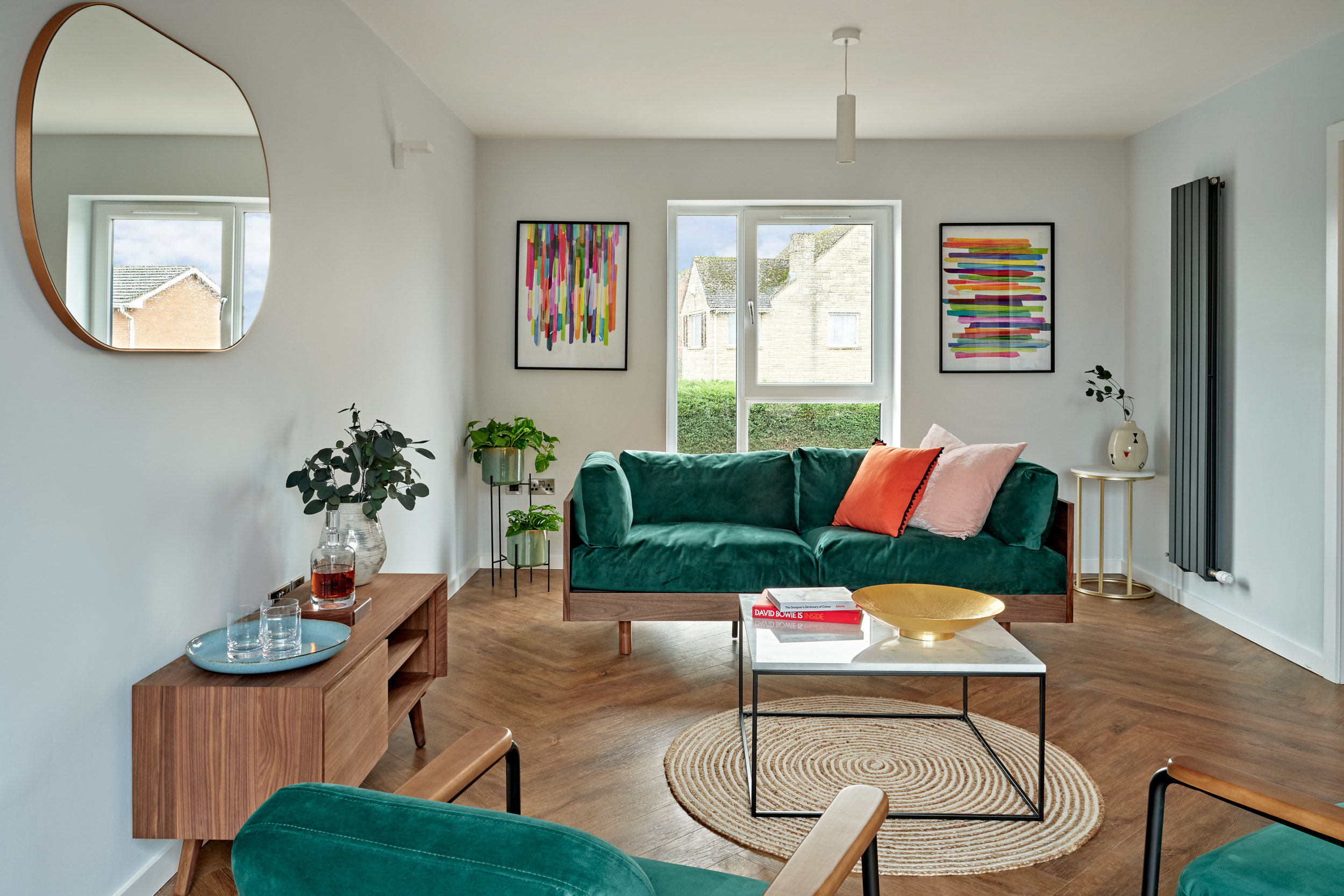 Contemporary living room at Lime Grove, Gloucester by MELT Homes
