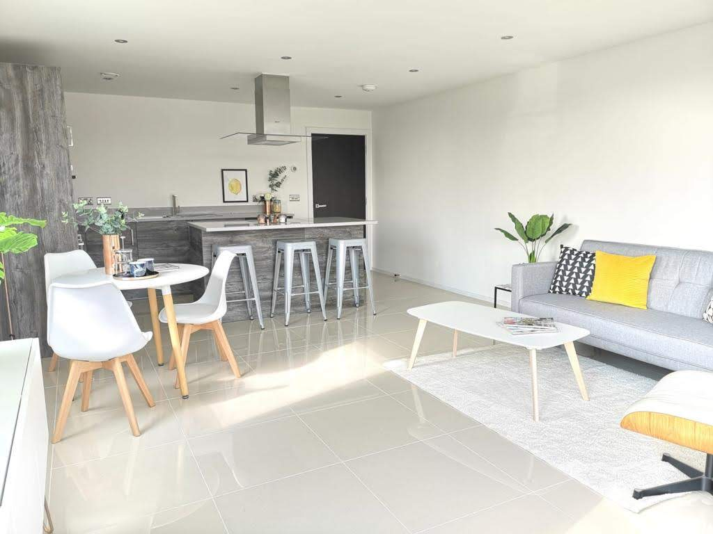 ONE62 open plan kitchen, a residential development comprising six spacious apartments in Hythe.
