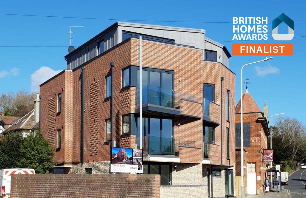 ONE62 British Homes Awards FINALIST, a residential development comprising six spacious apartments in Hythe.